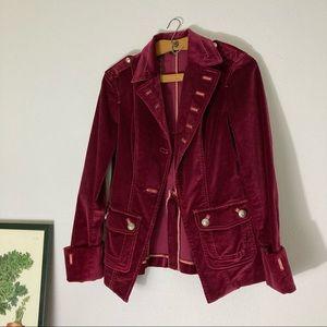 Bebe raspberry velour military blazer size 4